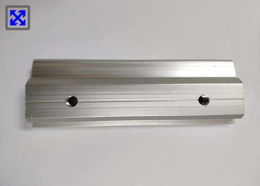 Silver Anodized CNC Aluminum Profile Recyclable For Solar Rack Connecting