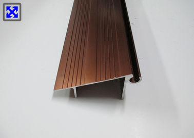 Dark Gold Color Anodized Kitchen Cabinet Aluminium Frame Good Formability