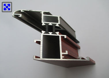 Champagne / Wood Color Window Frame Profile , Aluminium Window Profiles T5 State