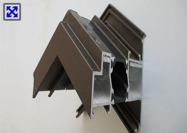 India Style Thermal Break Aluminum Window Profile Brown Powder Coated