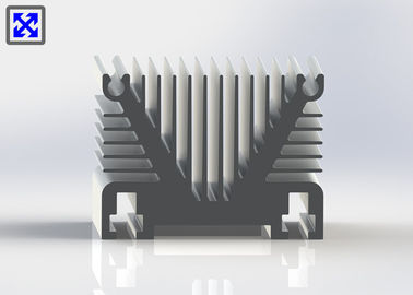 Industrial Facility Aluminum Heatsink Extrusion Profiles Customized Shape