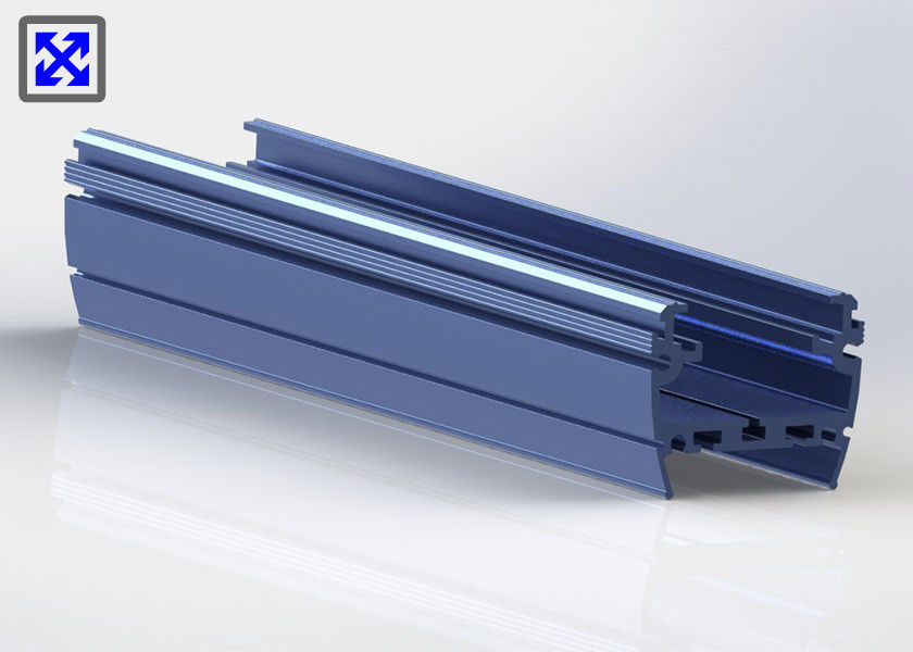 Blue Painted 6063 - T5 Aluminum LED Strip Profiles Channel For LED Light