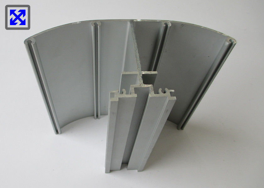 Sector Shape Industrial Aluminum Profile 6063 Alloy Anodizing Surface Treatment
