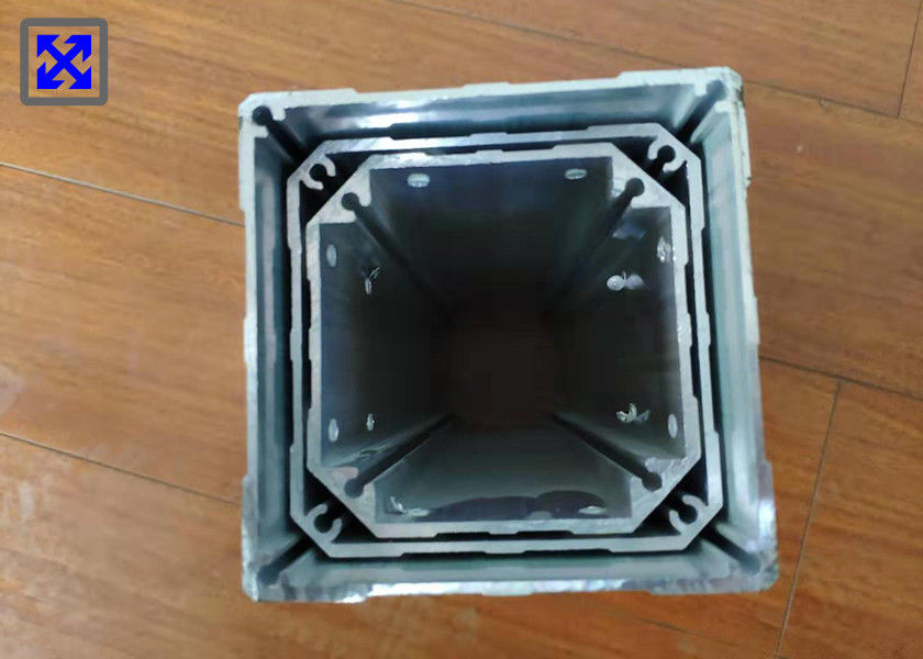 Industrial Aluminum Rectangular Tubing , Round Aluminum Extrusion Profiles For Tatami Lift