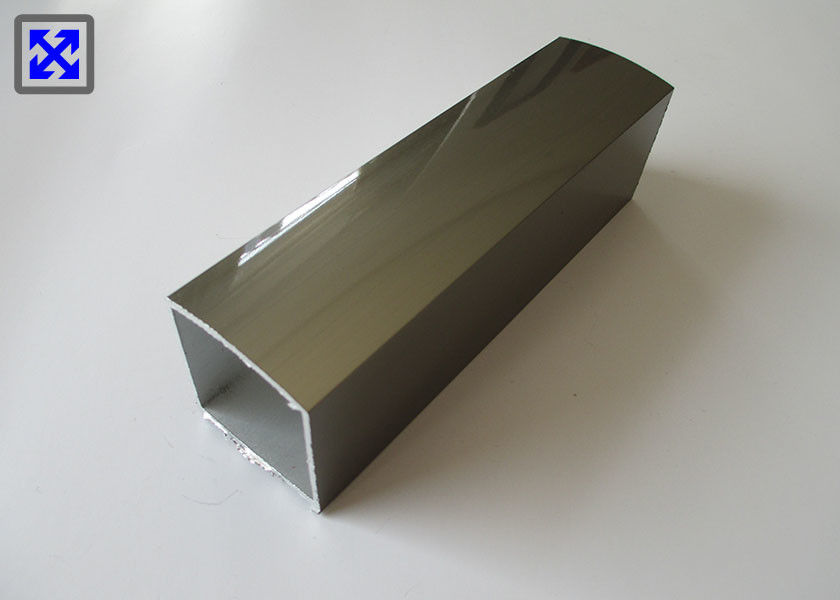 Dark Gold Aluminium Channel Profiles , Extruded Aluminum Profiles For Stair Railing