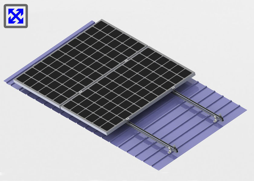L Feet Rooftop Solar Mounting System Aluminum Material Heat Resistance