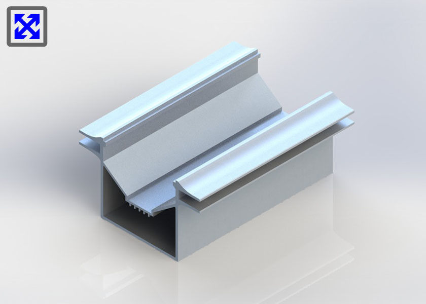 OEM / ODM Aluminum Channel Silver Anodized Industrial Aluminum Profile Customize