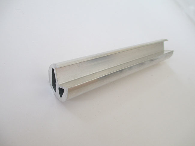 Custom Hollow Bar Extruded Aluminum Profiles ISO Compliant For Machinery Assembly