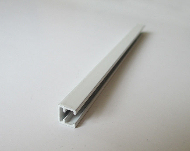 Pure White Powder Coated Aluminum LED Strip Profiles For Small Size LED