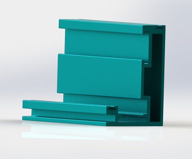 Blue Green Coated Aluminum Curtain Wall Profile CA70 Series Exposed Frame
