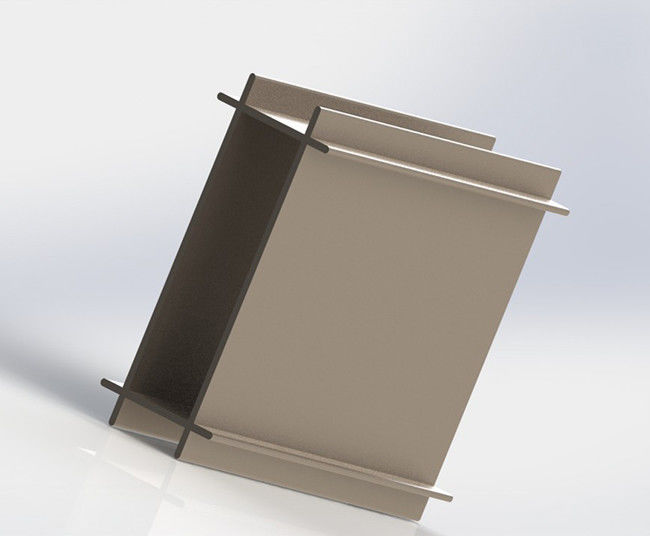 Invisible Frame Curtain Wall Aluminium Profiles Fluorocarbon Coating Surface Treatment