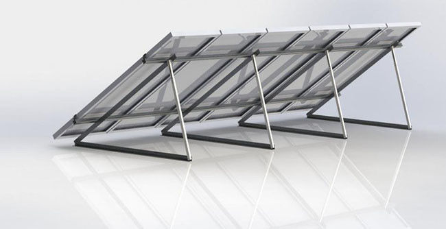 Triangle Frame Solar Panel Racking System 8 - 20μm Anodizing Thickness